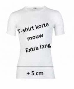 beeren extra lange t shirt ronde hals wit