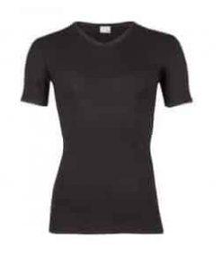 T-shirt V hals beeren zwart