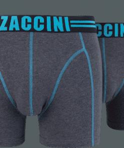 Zaccini boxershort grijs aqua