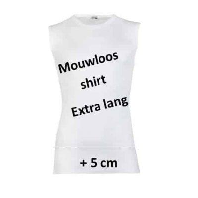beeren mouwloos t shirt wit