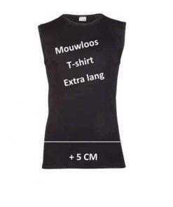 mouwloos t shirt zwart exra lang beeren