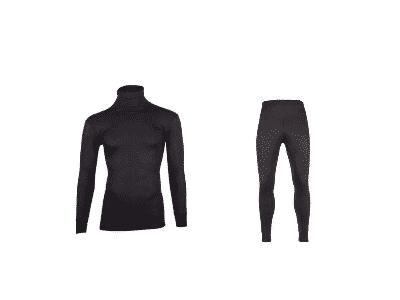 colshirt plus thermo broek zwart beeren