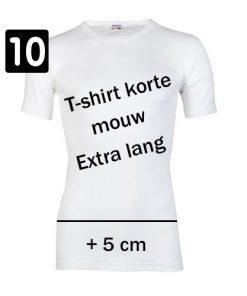 10 pack Beeren shirt ronde hals extra lang